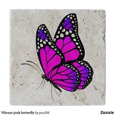butterfly drawing vibrant drawings colorful zazzle trivet butterflies painting tana ervese easy august