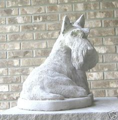 Concrete Scottie Dog Statue Monument   eBay