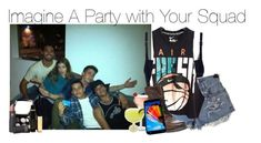"""""""Imagine A Party with Your Squad"""" by xdr-bieberx ❤ liked on Polyvore featuring STELLA McCARTNEY, NIKE, Steve Madden, Chanel, Lipstick Queen and Iman"""