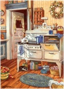 Paintings Of Old Fashioned Country Kitchens