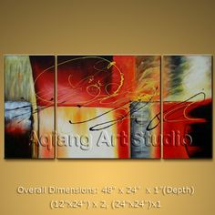 Modern Abstract Painting Textured Wall Art on Canvas FRAMED LARGE Ready to Hang $138.00 . More paintings available from eBay store http://stores.ebay.com/Oriental-Arts-And-Crafts/