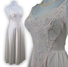 Pink Vanilla vintage OLGA nightgown rare style by BoudoirBarbie, $84.00