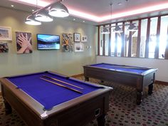 Purple pool tables at Piran Meadows, Newquay Newquay Cornwall, Pool Tables, Purple, Home Decor, Decoration Home, Room Decor, Home Interior Design, Viola, Pool Table