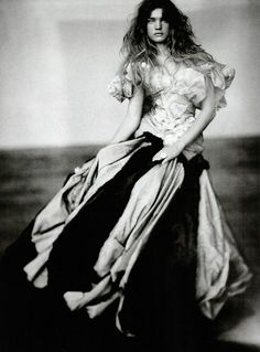 """Natalia Vodianova by Paolo Roversi in """"A Girl of Singular Beauty"""" for Vogue Italia, September 2004"""