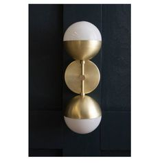 Brass Orb Sconce by LucentLightshop. Explore more products on http://LucentLightshop.etsy.com
