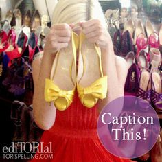 Shoe addiction! Click through to the post to add your caption.