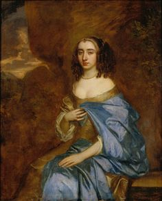 Lely, Sir Peter Portrait of a Lady with a Blue Drape c.1660