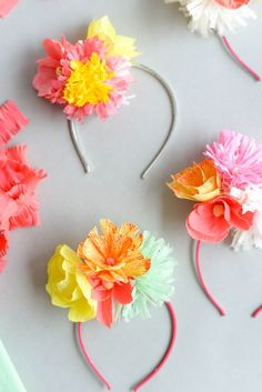 Paper Flower Headband DIY | Oh Happy Day
