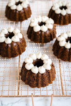 "Gingerbread Bundt Cakes & Vanilla Cashew ""Buttercream"" by Faring Well"