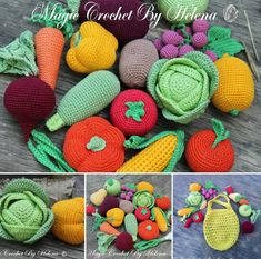 Crochet Toys Ideas Crochet Fruit And Vegetables Patterns - You are going to love this collection of Crochet Fruit and Vegetable Patterns and we have rounded up all our favorites for you to try. Crochet Fruit, Crochet Food, Crochet Gifts, Boy Crochet Patterns, Amigurumi Patterns, Knitting Patterns, Crochet Ideas, Crochet Hook Set, Love Crochet