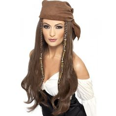 You can buy a Smiffy's Pirate Wig to match your pirate costume in parties from the Halloween Spot. This brown pirate wig comes with Bandana, Beads and Charms. Pirate Halloween, Halloween Wigs, Last Minute Halloween Costumes, Adult Halloween, Halloween Party, Fancy Dress Accessories, Costume Accessories, Bandana Pirate, Pirate Fancy Dress