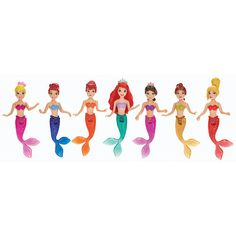 Disney Princess The Little Mermaid Sisters Dolls, 7-Pack | ToysRUs
