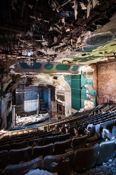 Abandoned Theater somewhere in the world that just breaks my heart to see this theater is my life and im not letting it go