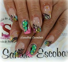 Nice Nails, Fun Nails, Acrylic Nails, Nail Designs, Hair Beauty, Nail Art, Templates, Short Nail Manicure, Nail Manicure