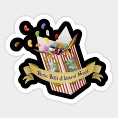 Shop Berttie Bott's all flavoured beans harry potter stickers designed by MrsMersey as well as other harry potter merchandise at TeePublic. Harry Potter English, Harry Potter Magic, Theme Harry Potter, Harry Potter Film, Harry Potter Characters, Harry Potter Canvas, Harry Potter Drawings, Printable Stickers, Cute Stickers