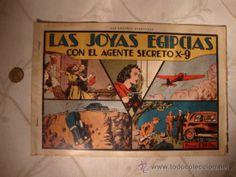 ANTIGUO COMIC ORIGINAL LAS JOYAS EGIPCIAS CON EL AGENTE SECRETO X-9, EDIT. H. AMERICANA, ANOS 40