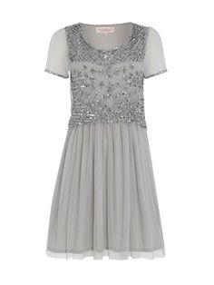 UK16 US12 Grey Vintage inspired 1920s vibe Flapper Gatsby Beaded Charleston Downton Abbey Sequin Wedding Art  Deco Prom Dress New Hand Made