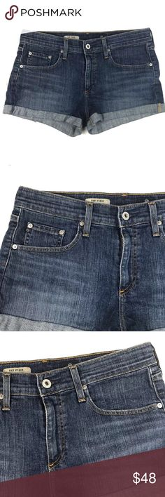 """AG Adriano Goldschmied The Pixie Roll Up Shorts Adriano Goldschmied The Pixie women's shorts in size 30.  Approximate Measurements Laying Flat  Waist- 16 3/4""""  Rise- 9 7/8""""  Inseam- 2"""" Ag Adriano Goldschmied Shorts Jean Shorts"""