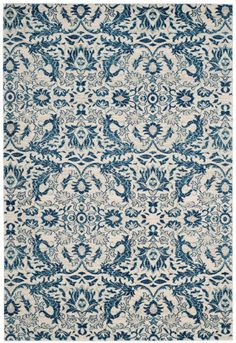 A spectacular fusion of fashion-forward pattern, color and texture, Evoke frieze rugs by Safavieh are soft and casual. Power-loomed of high-twist polypropylene yarns, these artful transitional rugs are designed for high style, performance and easy...