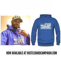 """Shoutout to my bro @blu6shoota. The last day of the hoodie sale is tomorrow. Use """"Hoodie15"""" at checkout. #hustlehardcampaign #campaigntees"""