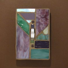 Stained glass light switch cover