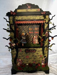 Graphic 45 Halloween ( Alice) in Wonderland puppet theater and mini album