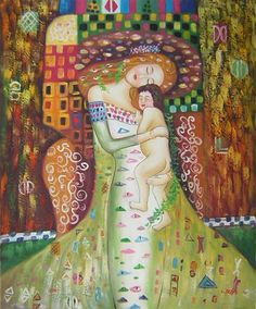 Oil Painting - Mother