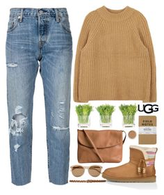 """""""Play With Prints In UGG: Contest Entry"""" by bmaroso ❤ liked on Polyvore featuring UGG Australia, Levi's, Pieces, NDI, Yves Saint Laurent, M&Co, Bare Escentuals and thisisugg"""
