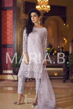 Maria B Lawn & Chiffon Eid Dresses 2016-17 Collection | StylesGap.com