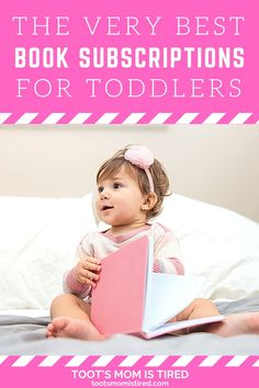The Best Book Subscriptions For Toddlers | Book subscription services for kids, toddlers, and preschoolers. Book boxes for kids. Board book subscription box. Toddler Books, Childrens Books, Two Years Old Activities, Book Subscription Box, Book Boxes, Tired Mom, Kids Board, Experience Gifts, Kids Lighting