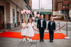 Flower girls and page boys from a tie cinema wedding. Photography by http://www.emiliemay.com/
