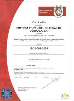 Certificado ISO 9001:2008 del laboratorio de control de calidad http://81.24.163.42/images/calidad.jpg
