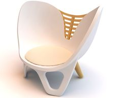 Ilium Chair is the new concept design of Damaris&Marc Design Studio from Barcelona.The Ilium Chair combines plastic and wood to create a piece inspired in a female human pelvis bone.The pelvis bone is surrounded by muscles and skin giving structure to the human body as well as holding organs and the container where the magic process of creating life takes place. It is a very interesting metaphor that is expressed in wood and it is supposed to offer the person seating there.