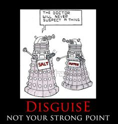 LOL  I dunno, it could work if only they weren't so tall.  Especially new Daleks, they're gigantic.