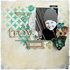 Scrapbooking+Layout+Ideas   Scrapbooking - Layout and Page Ideas / gorgeous colours