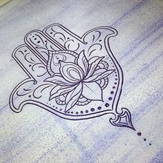 Resultado de imagen para mandala including om, hamsa and lotus Tattoo Fleur, Hamsa Hand Tattoo, Lotus Tattoo, Mandala Tattoo, Hand Tattoos, Great Tattoos, Beautiful Tattoos, Small Tattoos, Hamsa Design