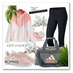 """""""ROMWE"""" by beauty-dcccv ❤ liked on Polyvore featuring NIKE, adidas Originals, adidas and Frends"""