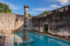2013-12 The pool Hacienda Uayamon Campeche. #toptravelspot #haciendauayamon #campeche #mexico #hacienda #pool #hammock #travel  #travelling #instatraveling