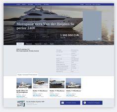 Дизайн портала яхт и катеров AllYachts