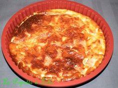 Recette trouvée chez Karine du Blog Au portes du Paradis Ingrédients pour 2 gourmands : 6 c. à soupe de fromage blanc 0 % 3 oeufs battus en omelette 2 tranches de jambon de dinde ou poulet coupées en petits morceaux 1/2 oignon haché 1 pincée de noix de...