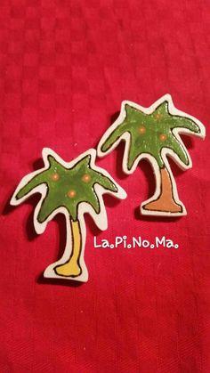 Magnete in legno PALMA, by Lapinoma idee in legno e non solo, 5,00 € su…