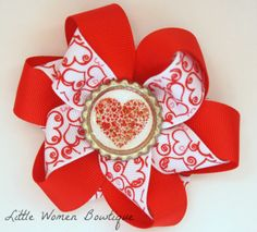 Valentine Twisted flower $4  Be sure to like my fb page www.facebook.com/littlewomenbowtique
