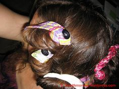 hair curler sewing tutorial- these would be perfect for my girls' hair