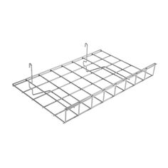 Gridwall Straight Shelf with a shelf lip that prevents items from falling off. Sturdy yet lightweight steel design. Will suit any gridwall panel. Pos Display, Business Emails, Basket Shelves, Slat Wall, A Shelf, Mesh Panel, Chrome Finish, Polished Chrome, The Unit