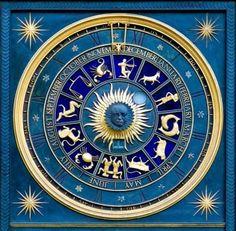 Mandala - Blue Zodiac Clock