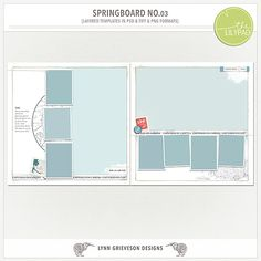 Springboard templates No.03 by Lynn Grieveson.  Available at The Lily Pad.