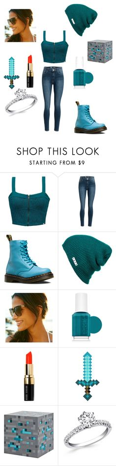 """""""gabriel from minecraft story mod"""" by elinakitty67 on Polyvore featuring Element, Dr. Martens, Neff, Gucci, Essie and Bobbi Brown Cosmetics"""
