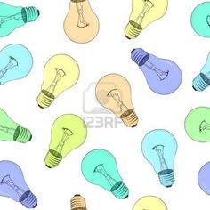 シームレス テクスチャ - 色の電球 ストックフォト