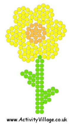 Daffodil Fuse Bead Pattern 1