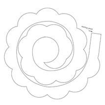 8 Best Images of Printable Template Paper Rose Flower - Rose Paper Flower Template Printable, Rose Paper Flowers Templates and Paper Flower Templates Printable Free Wafer Paper Flowers, Paper Flowers Craft, Flower Crafts, Felt Roses, Felt Flowers, Fabric Flowers, Rose Stencil, Flower Template, Kirigami